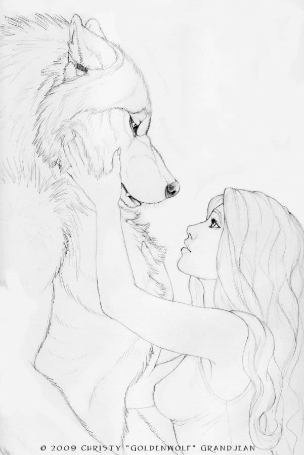 Drawn wolfman love My Eye by Goldenwolf Wolves