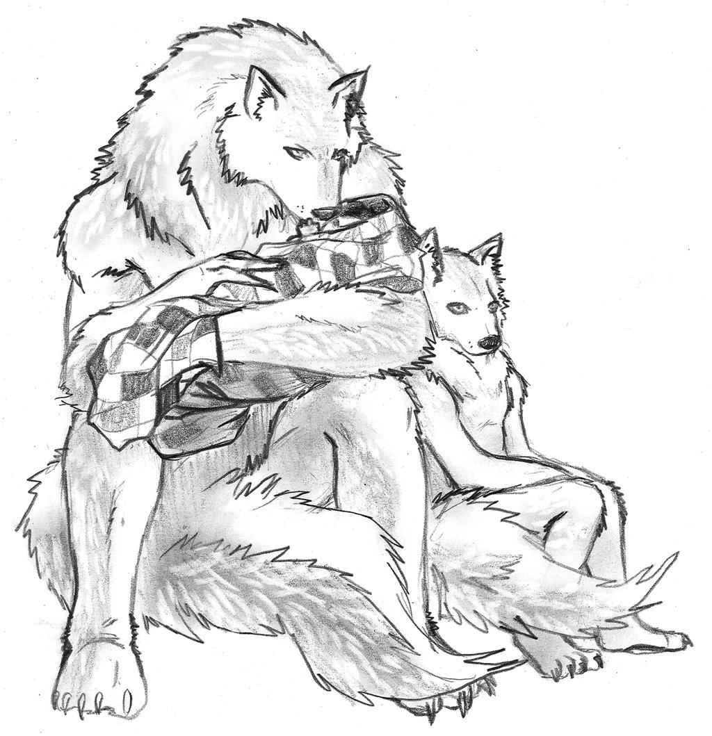 Drawn wolfman love Com by  RenaissanceLady Werewolf