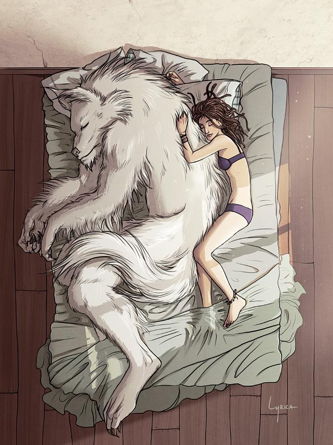 Drawn wolfman love Com Werewolf  Werewolf Girl