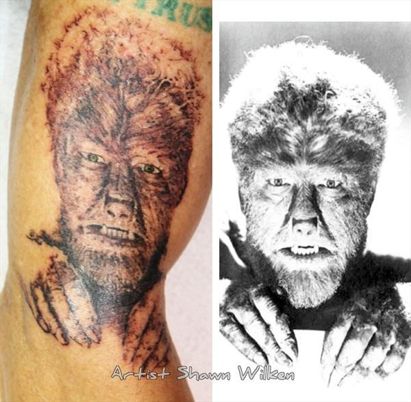 Drawn wolfman mechanical Tattoo Wolfman Shawn 18 Nov