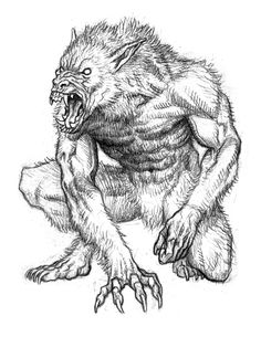 Drawn wolfman mechanical Pinterest and sketches Pin Werewolves