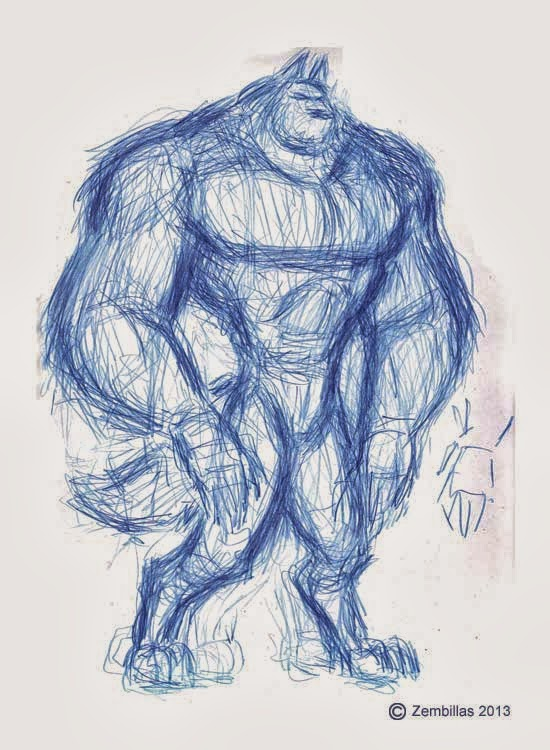 Drawn wolfman muscular body Wolfman to possible body Charles