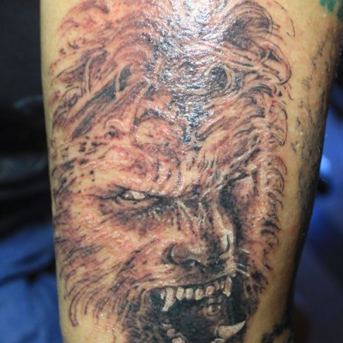 Drawn wolfman muscular body Tattoo Wilken wolfman Shawn tattoo