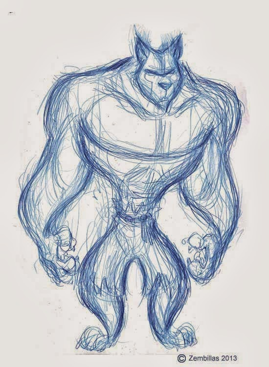 Drawn wolfman muscular body Last that came Werewolves up