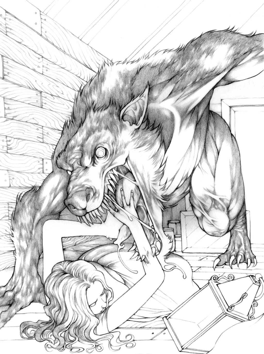 Drawn wolfman pencil drawing In pencil Cool photo#3 Drawings