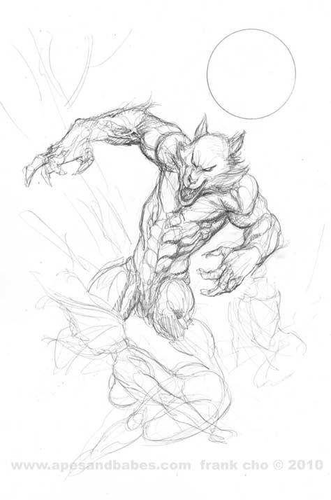 Drawn wolfman pencil drawing  cho DAP cho by