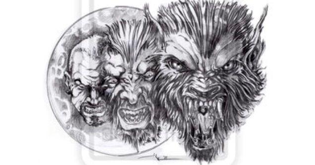 Drawn wolfman pencil drawing Werewolf from sketch Teen Werewolves