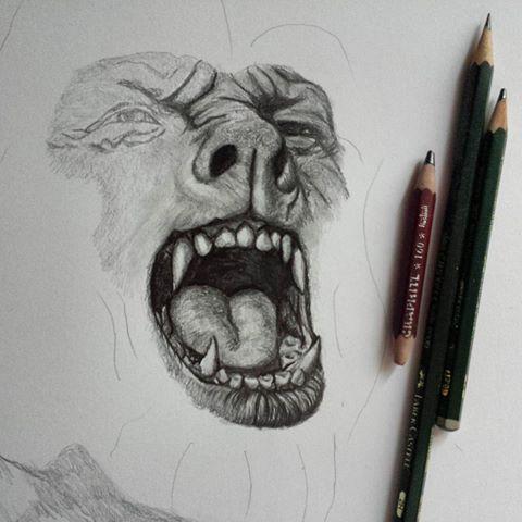 Drawn wolfman pencil drawing New I'm Mulas draw Wolfman