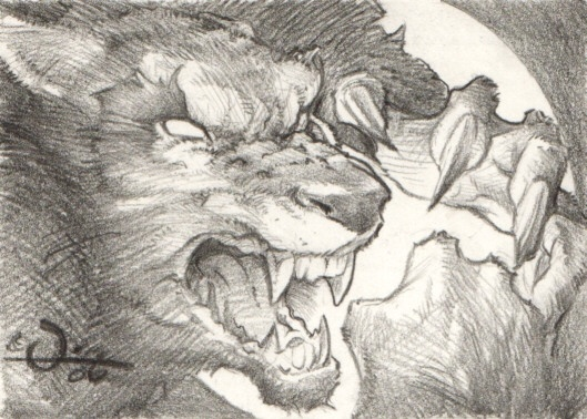Drawn wolfman pencil drawing Horror Pinterest the Best Comic