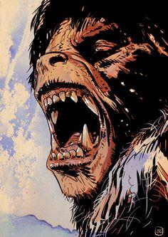 Drawn wolfman powerful London Werewolf  the american