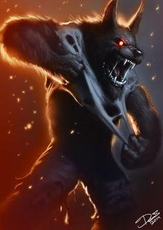 Drawn wolfman rage Try had Rage Werewolf is