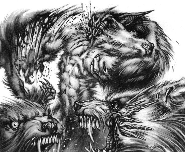 Drawn wolfman rage Images Black best Spiral Werewolf