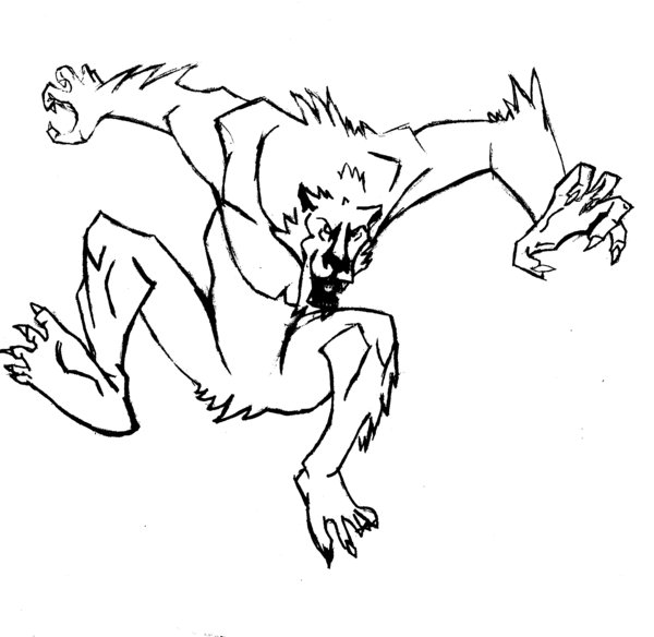 Drawn wolfman real life Drawing DeviantArt Wolfman by Drawing