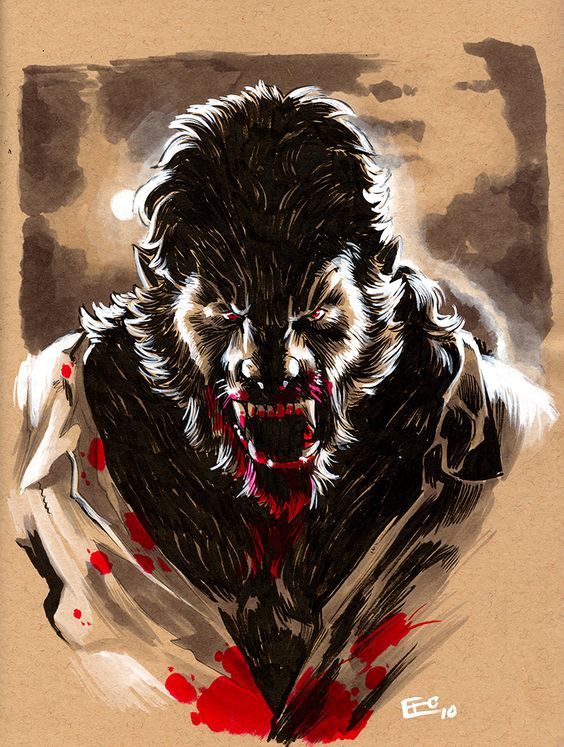 Drawn wolfman real life 17 Vampire S and Werewolf