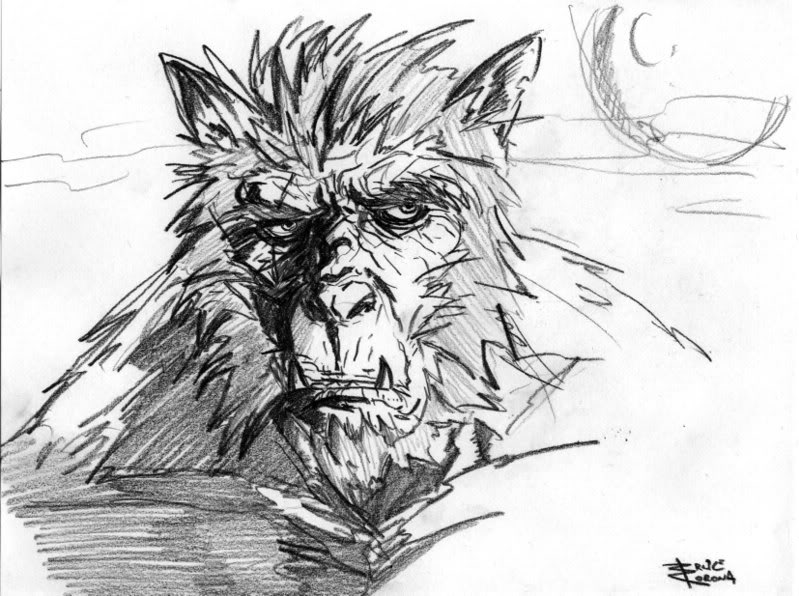 Drawn wolfman real life Wolf Man Drawing wolf photo#8