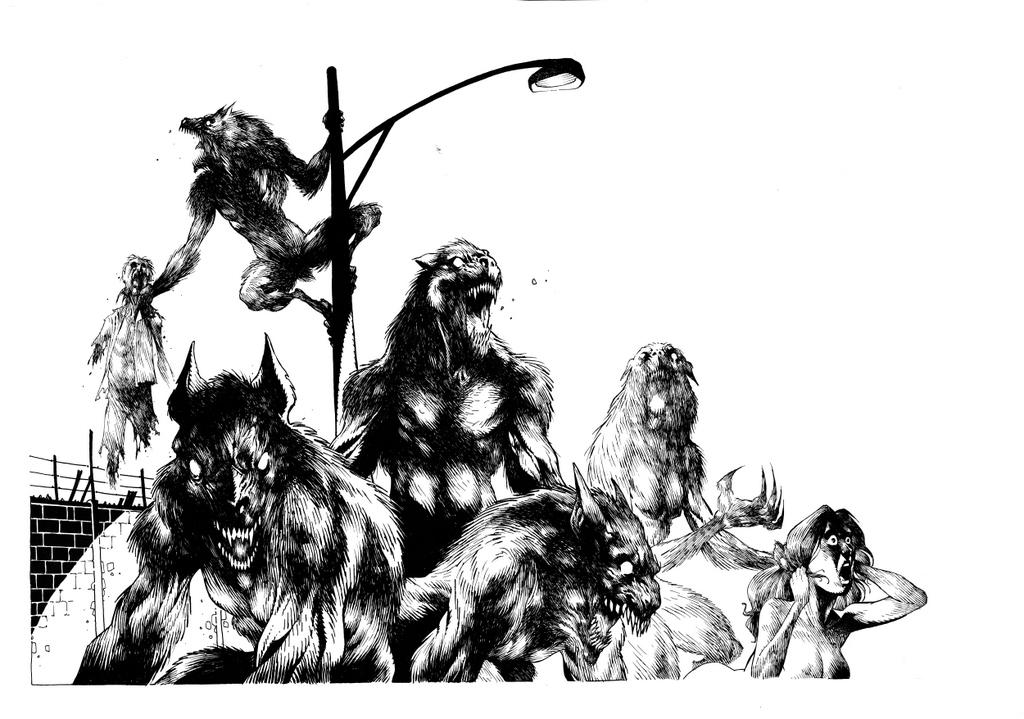 Drawn wolfman rpg #pulp Werewolf #classic RPG #horror
