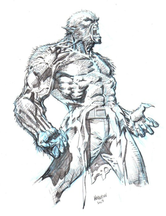 Drawn wolfman sketch Wolfman dogsoldierr by dogsoldierr by