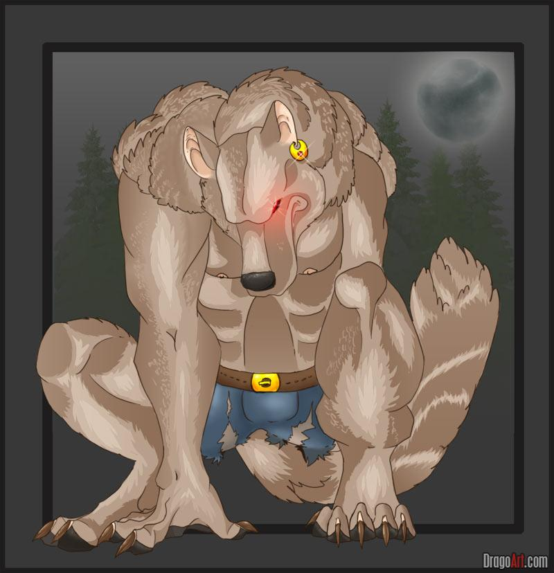 Drawn wolfman strong How draw FREE Draw werewolf