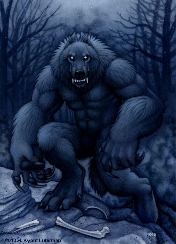 Drawn wolfman strong Werewolf There Horror Werewolf kyoht