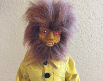 Drawn wolfman tall Vintage Universal Monsters/ Operated Figure