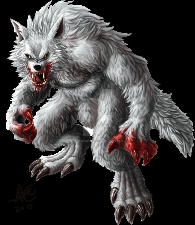Drawn wolfman transparent Werewolf Alicemonstrinho Alpha by by