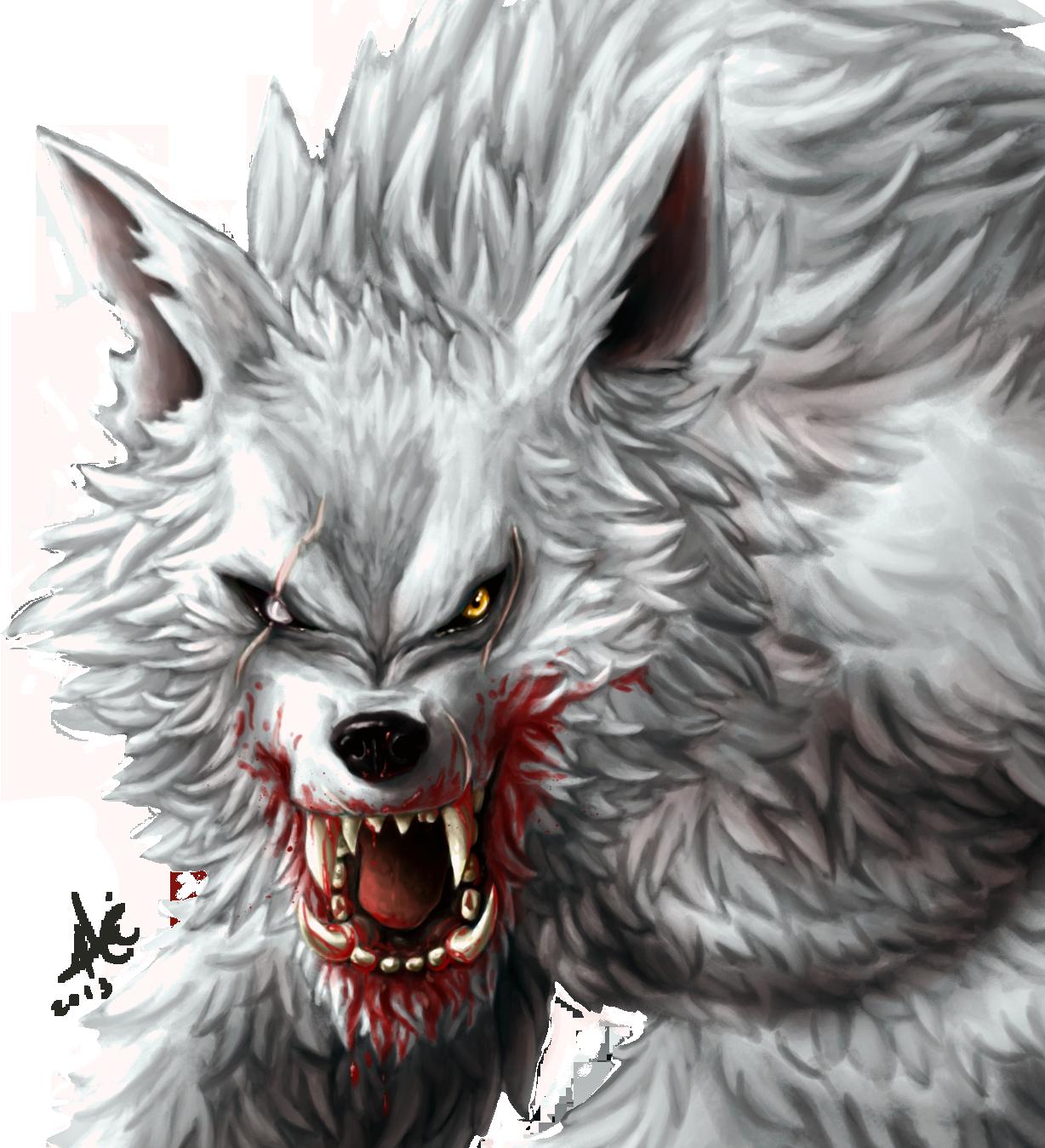 Drawn wolfman transparent Werewolf on  Alicemonstrinho on