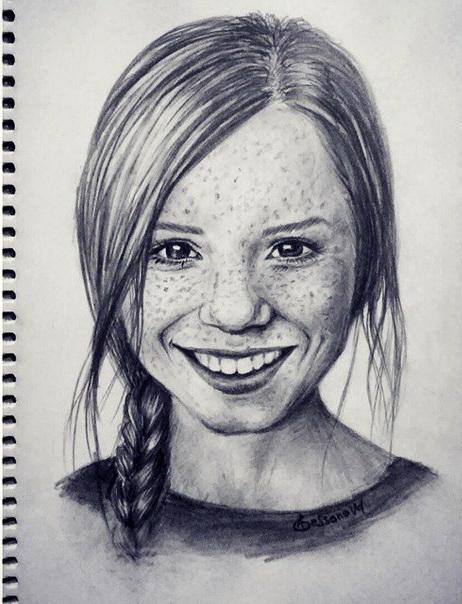 Drawn woman portrait drawing #10