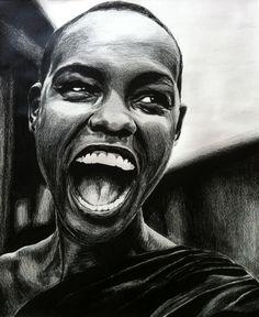 Drawn women african Wedding drawing Enhance To First