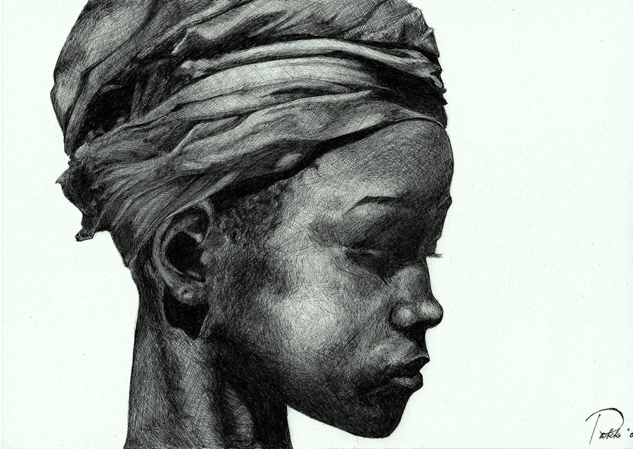Drawn women african Paintings Paintings African Art by