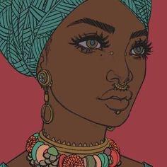 Drawn women african Mohaart día people nuevo un
