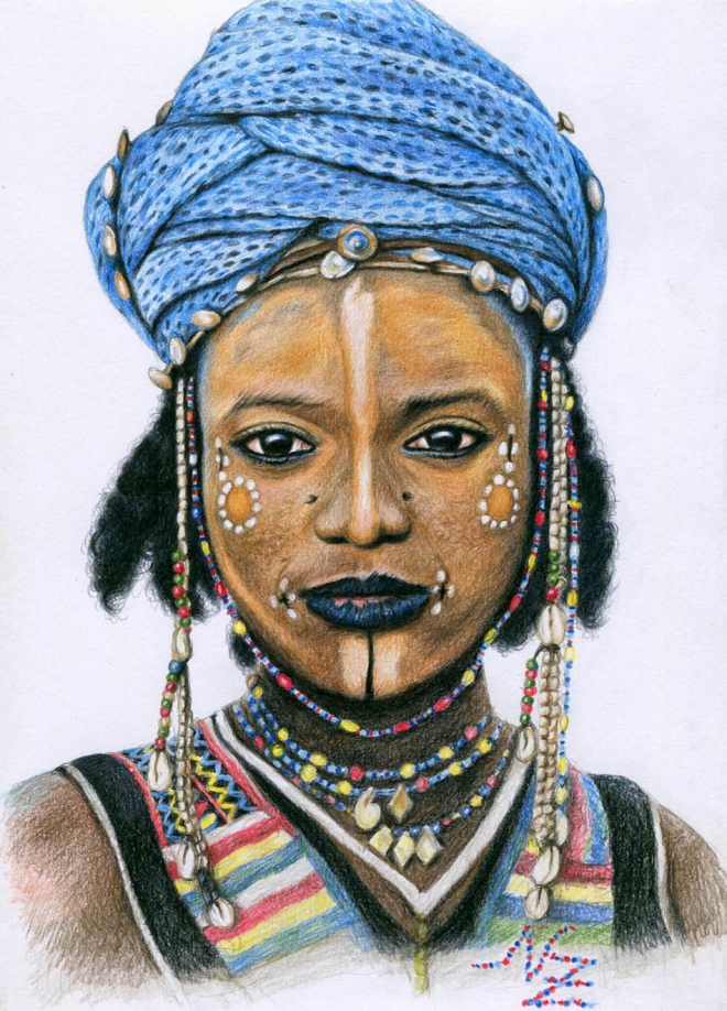 Drawn women african By african Pencil Nicole drawing