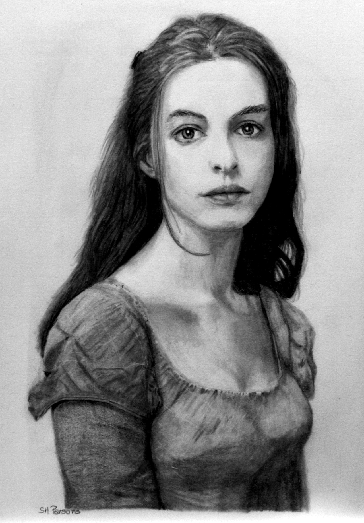 Drawn women anne hathaway Pencil Miserables :Les (re) Miserables