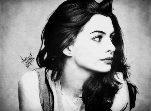 Drawn women anne hathaway Hathaway images best inspiration Good