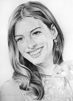 Drawn women anne hathaway Hathaway Portrait Brush com/PortraitLc facebook