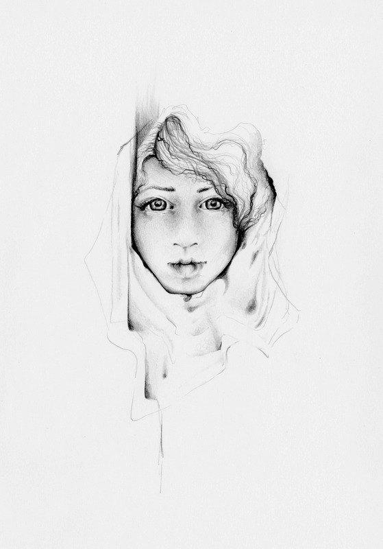 Drawn women art One Fine a Modern Pencil