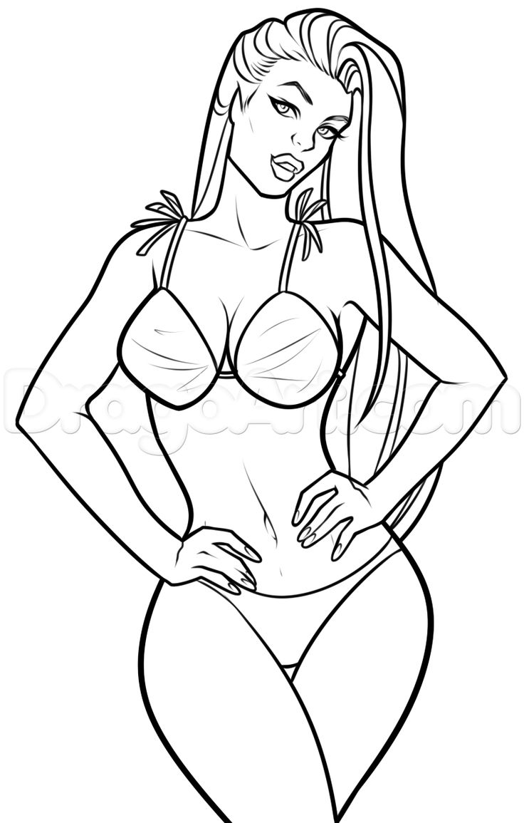 Drawn women athletic Images on Drawing Body Body