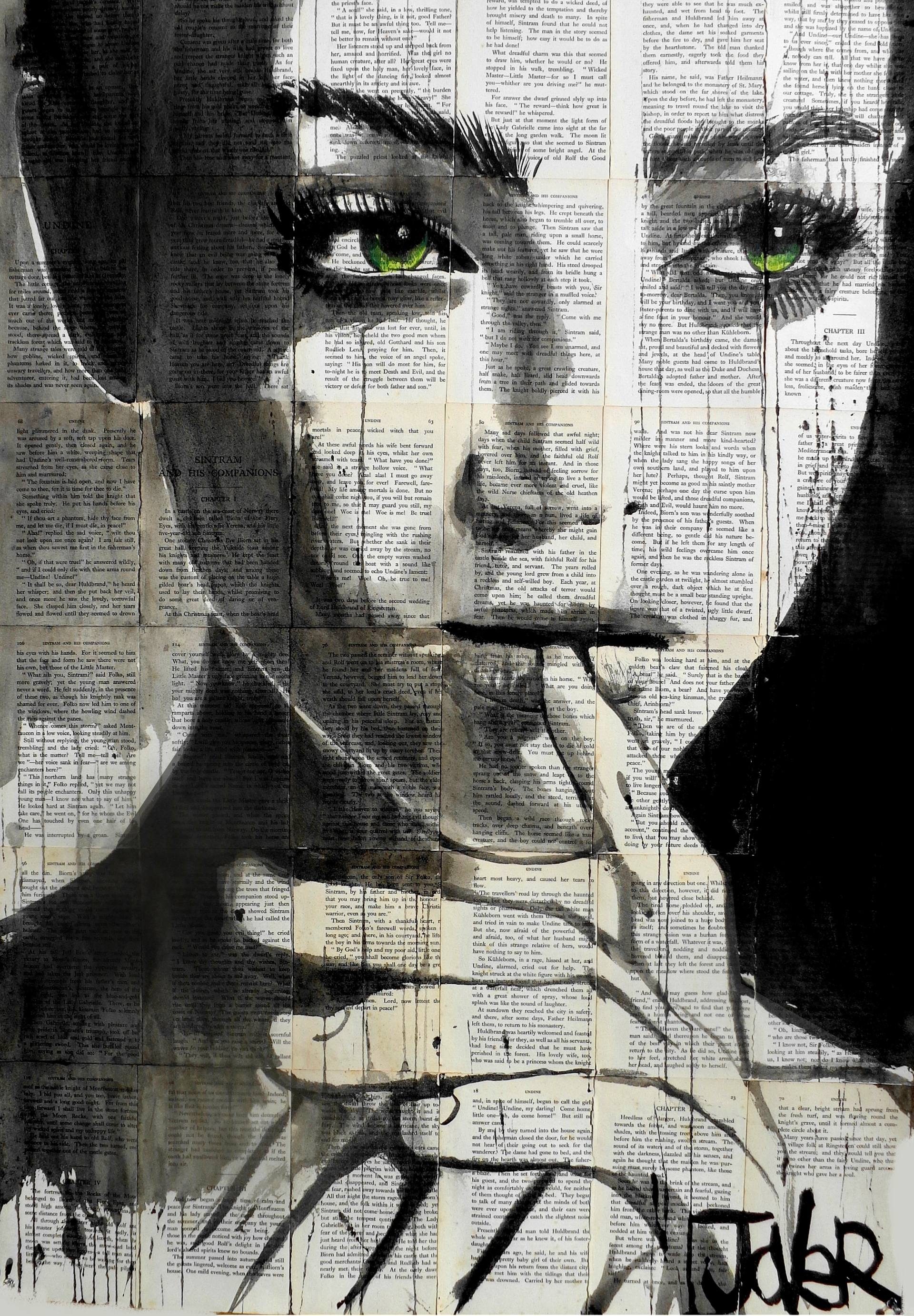 Drawn women australian Prints JOVER Collage Undine by