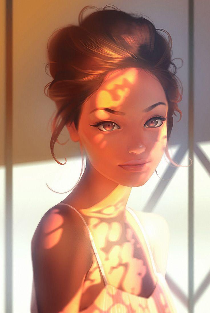Drawn portrait digital drawing Aleksandr illustrator Pinterest beautiful art