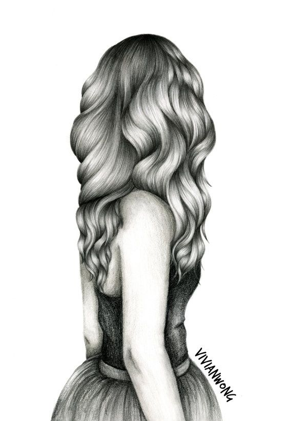 Drawn ballerine hair Sketch white of Girl and