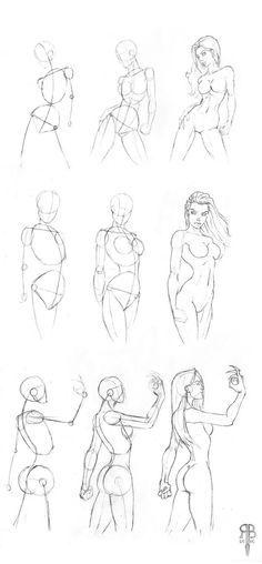 Drawn women back body part · scaner PosesBody about as
