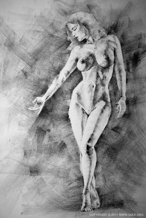 Drawn women beautiful woman body Pencil SketchBook SketchBook charcoal Drawing