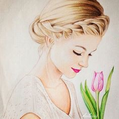 Drawn women beautifully And Drawing of drawings of