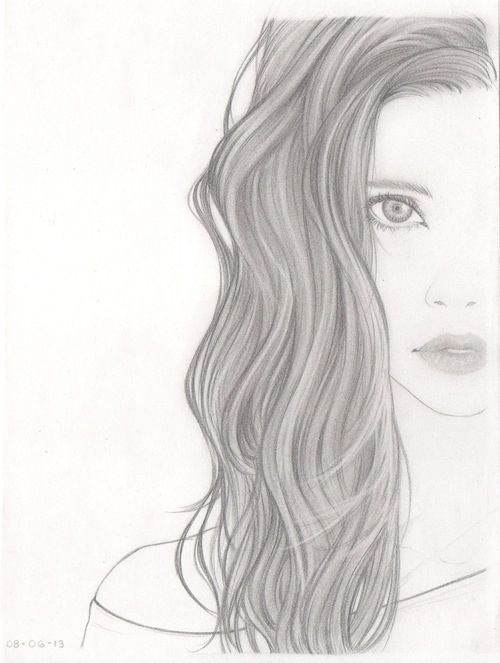 Drawn women beautifully ღThe Woman face drawing com/