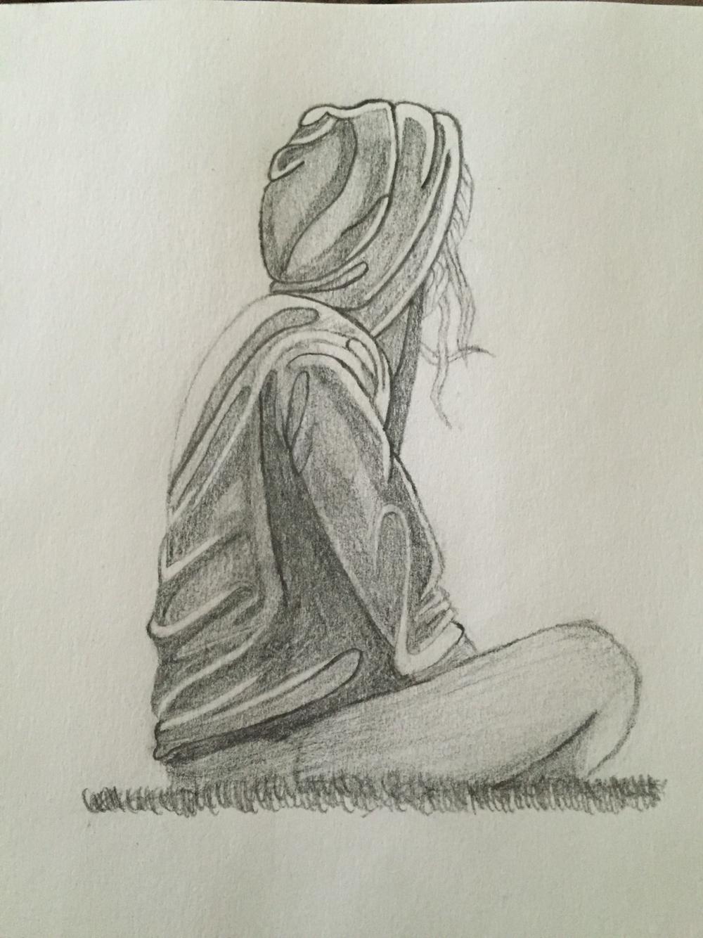 Drawn sad sad woman Tree pencil sketch … Search
