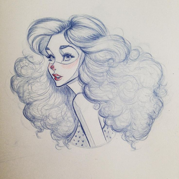 Drawn women big On ideas 25+ Hair Curly