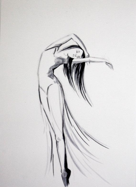 Drawn ballerine man easy Art White and Dancer Drawing