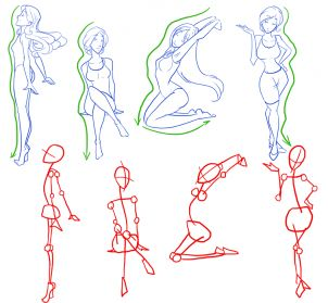 Drawn figurine part drawing Figures step  how to