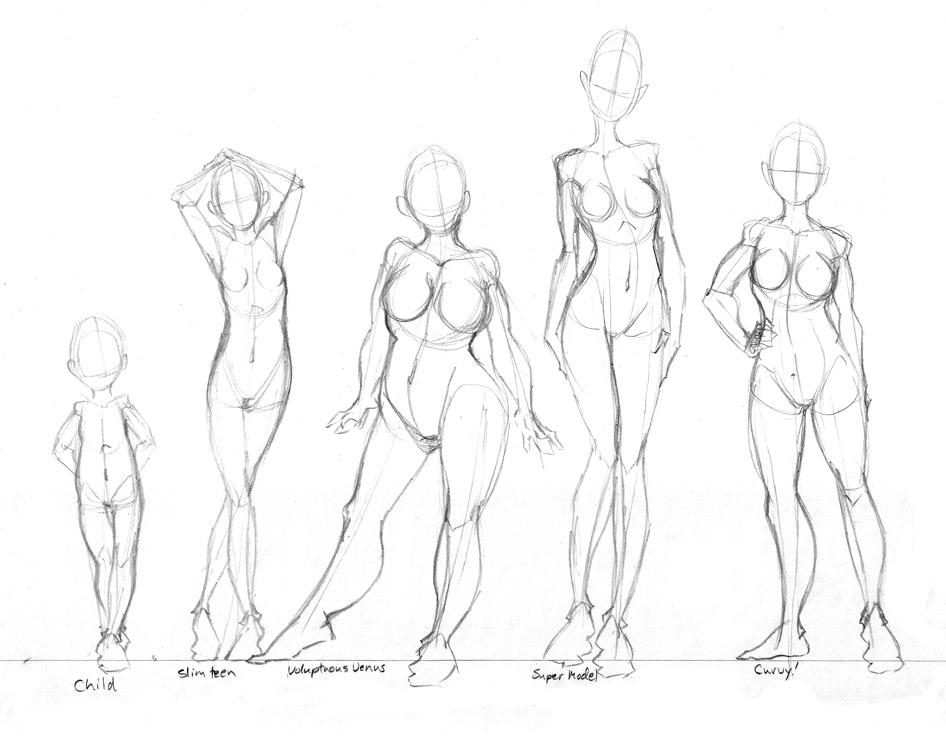 Drawn figurine practice (female) on Body ideas deviantART