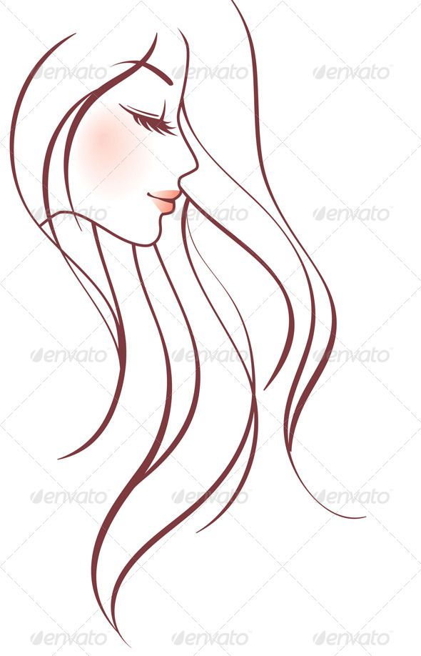 Gorgeus clipart wild hair Character images on Woman beauty