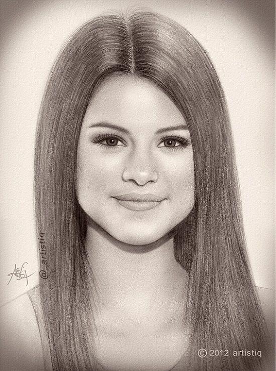Drawn women celebrity 20+ Best on drawings Selena